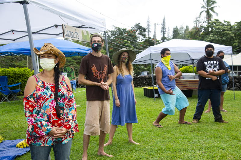 Vendors Kahea Love, Garden of da Light, Kamanu Lind, Kaupo Goodies